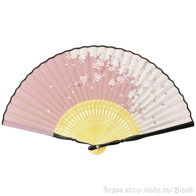 旭王 扇子 桜 シルバーピンク 151006 夏祭り 浴衣