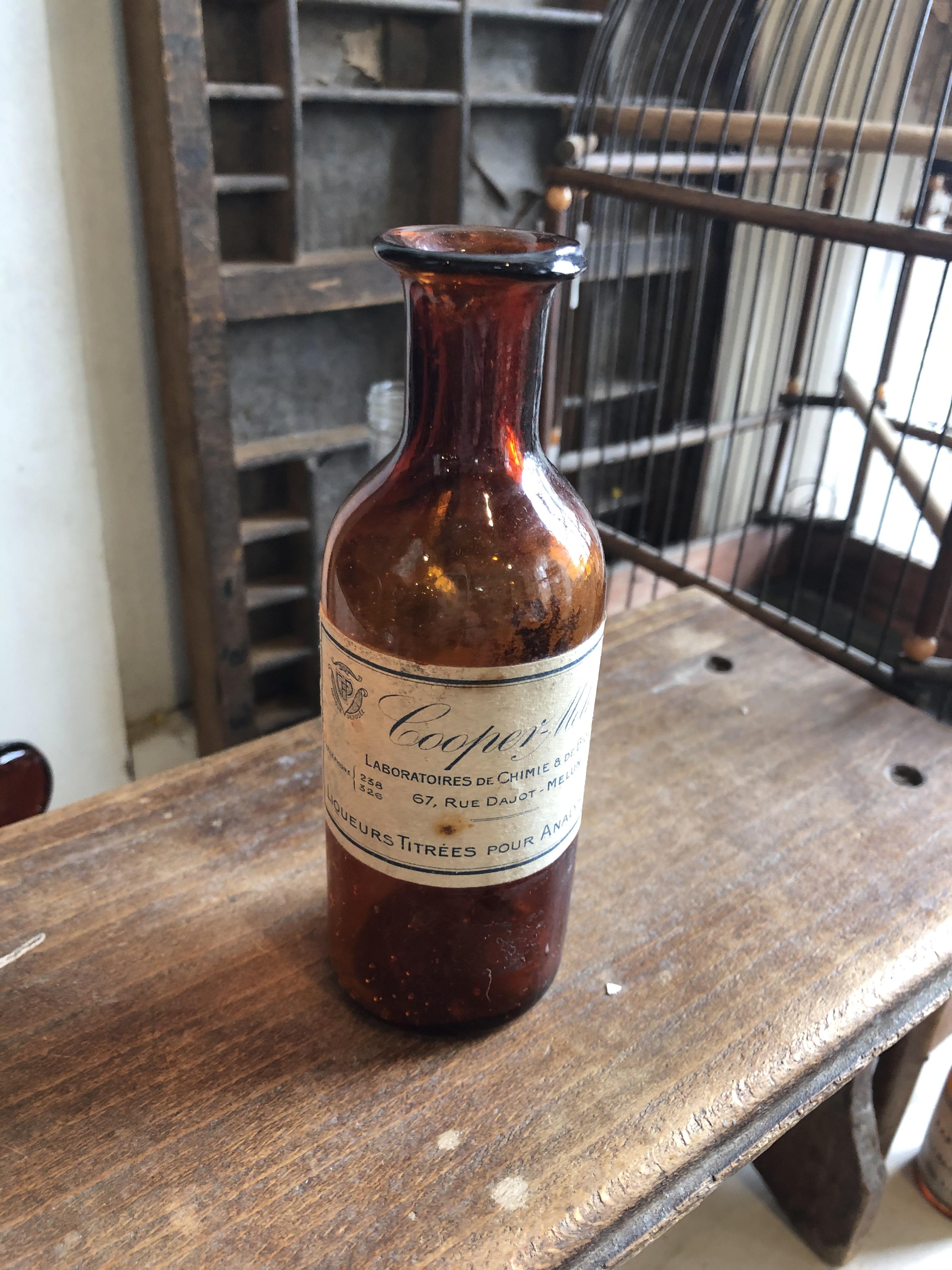 フランスアンティーク 薬瓶 Cooper-Melun