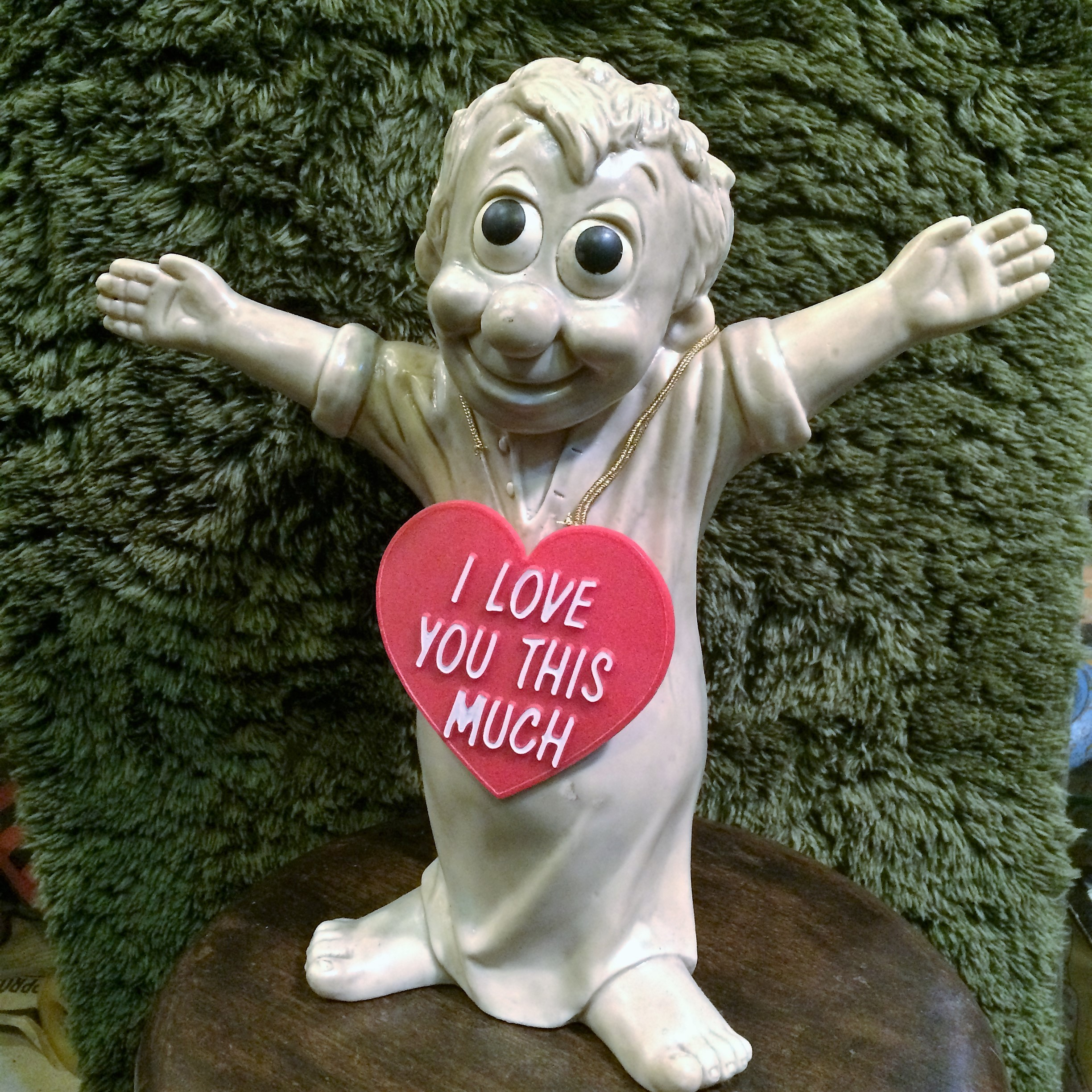"""70's vintage 特大メッセージドール """"I LOVE YOU THIS MUCH"""""""