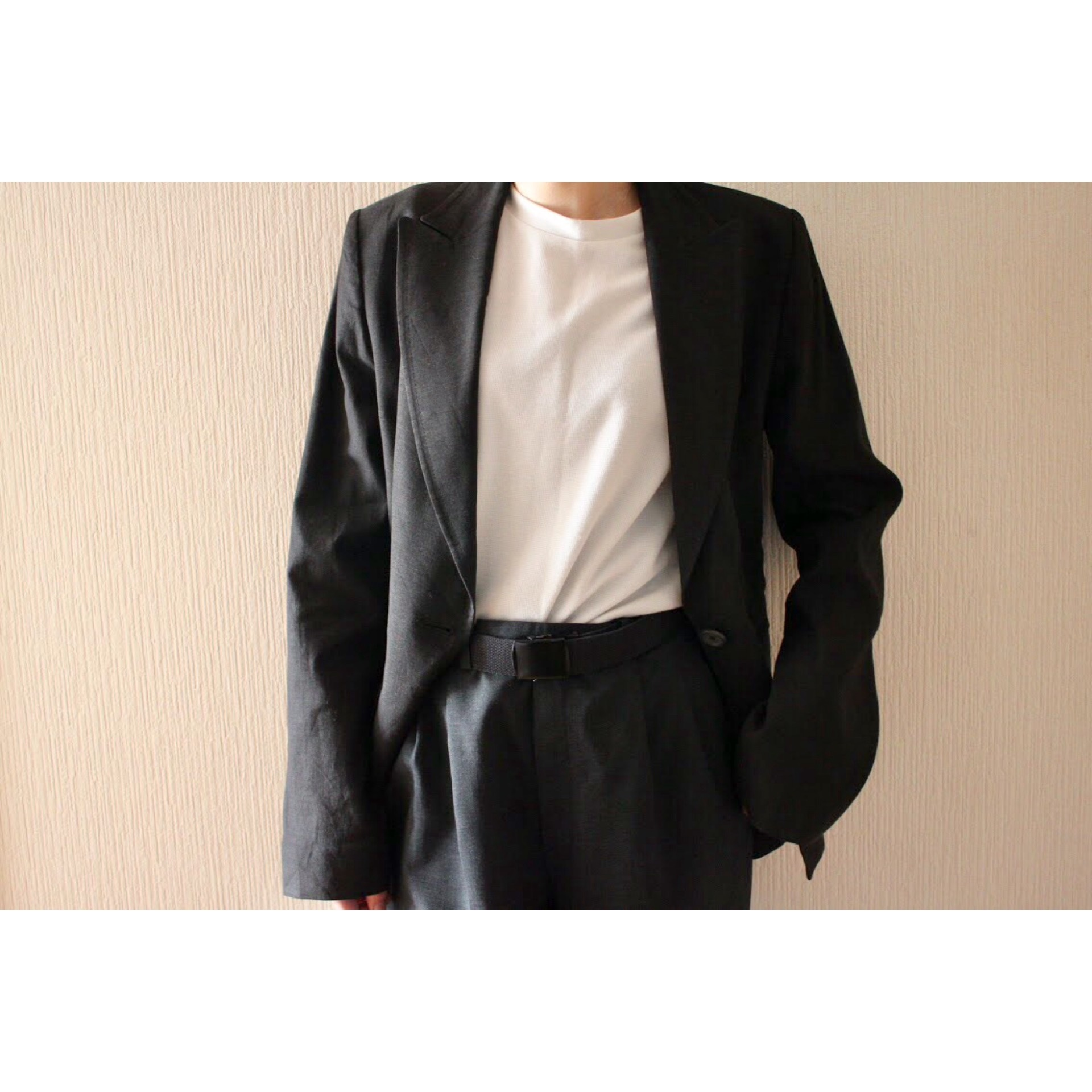 Vintage linen tailored jacket