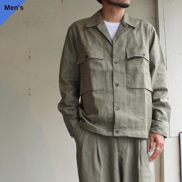 HAVERSACK グリーンデニムシャツジャケット 471920