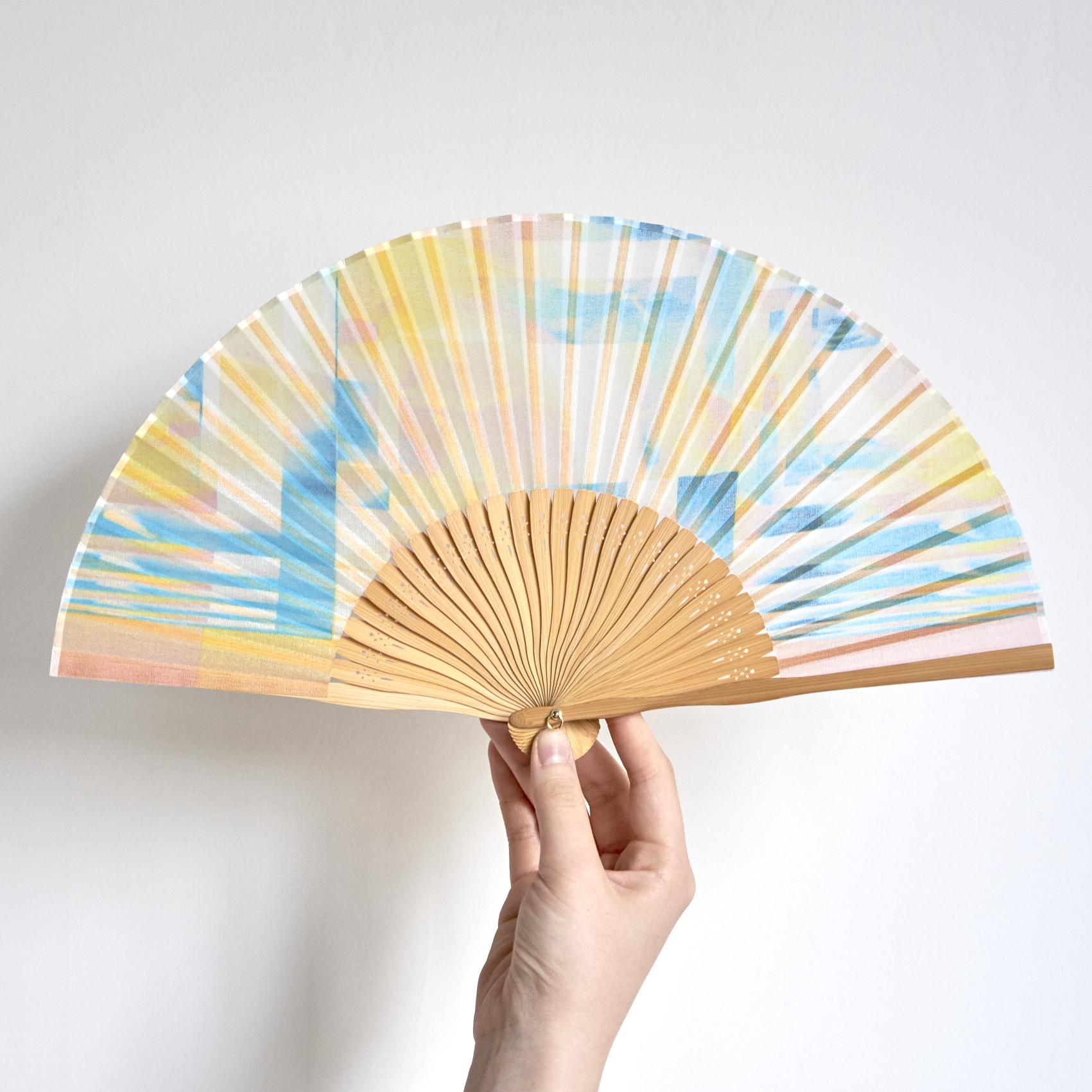昔ながらの製法で仕立てた綿扇子 - PARALLEL - 2color