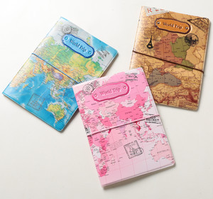【訳アリ☆アウトレット品】パスポートケース☆世界地図☆