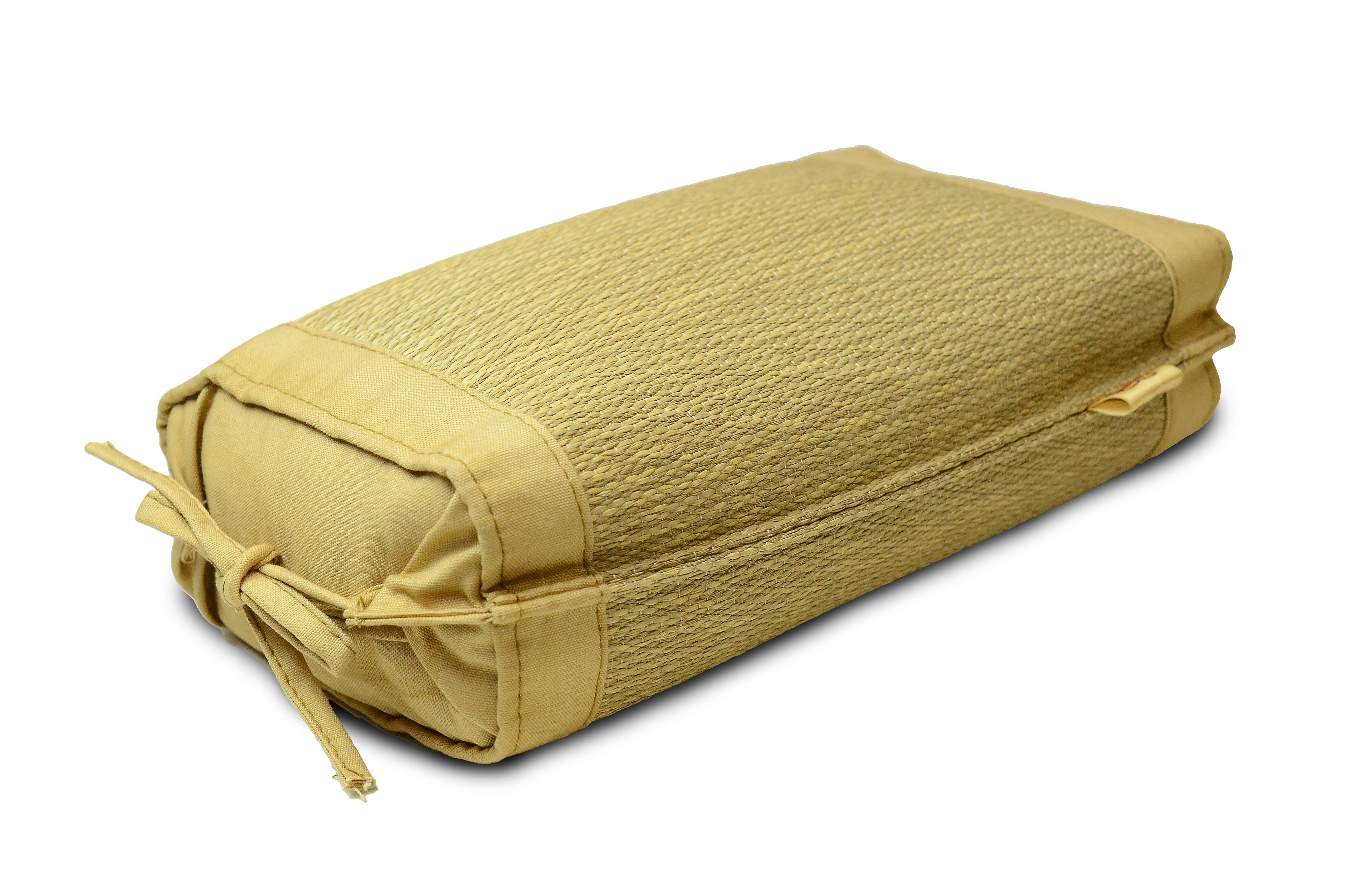 【栗毬染め 小枕】 中芯材:パイプ 柳川ブランド認定品