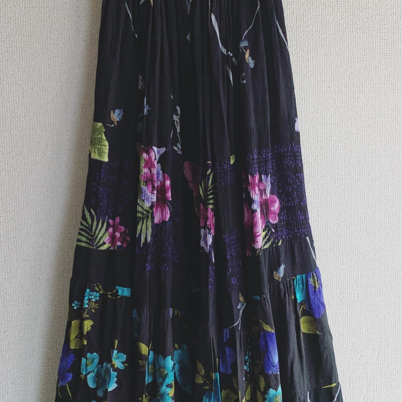 vintag tiered skirt
