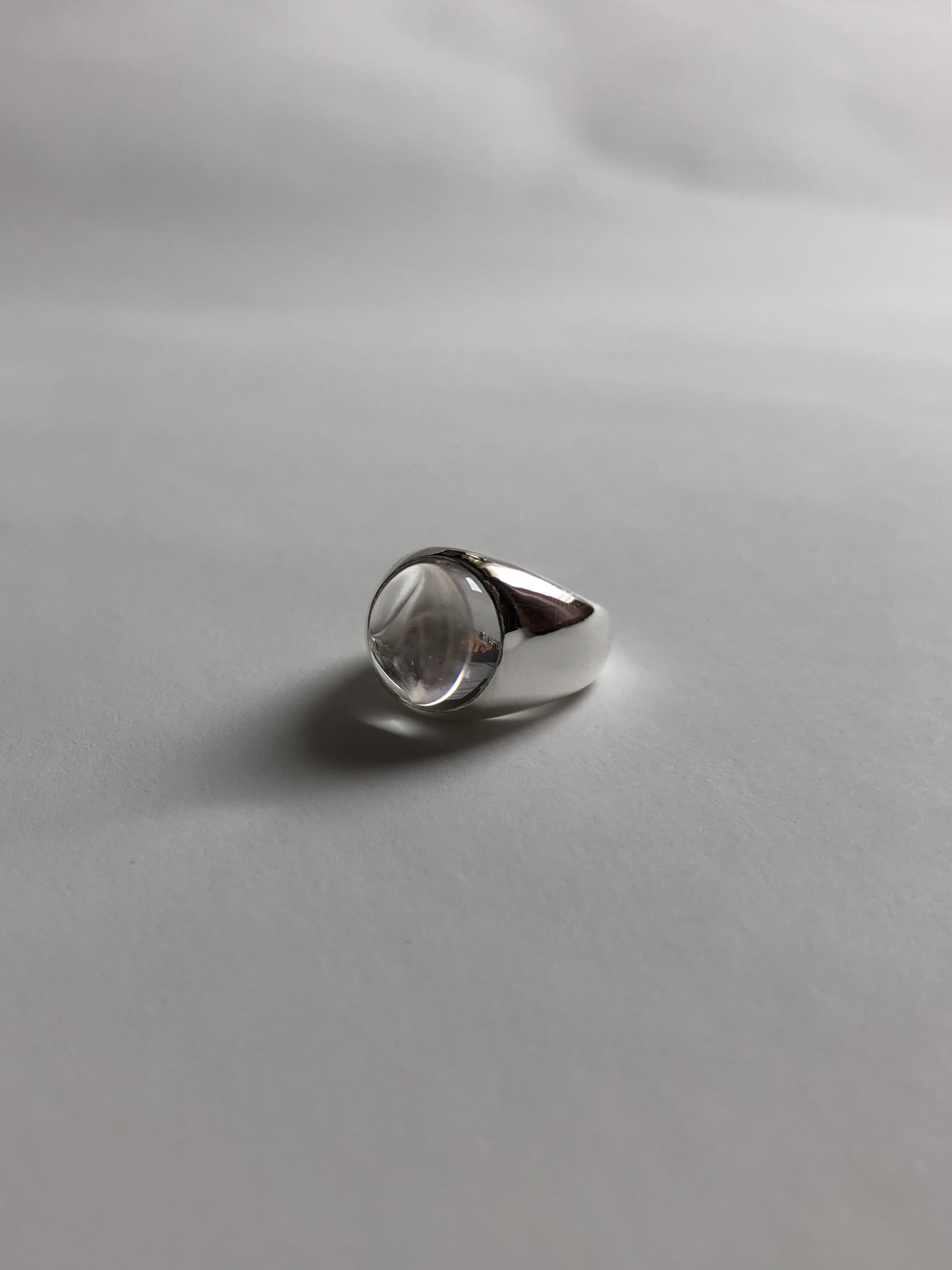 <11.23受注開始> crystal quartz gem wide ring