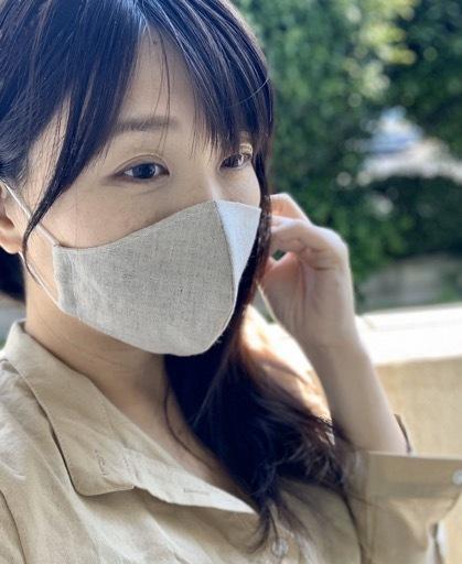 リネンの立体マスク