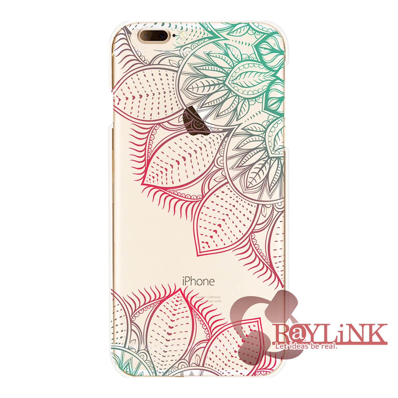 【スマホケース】iPhone7用クリアケース 花柄模様