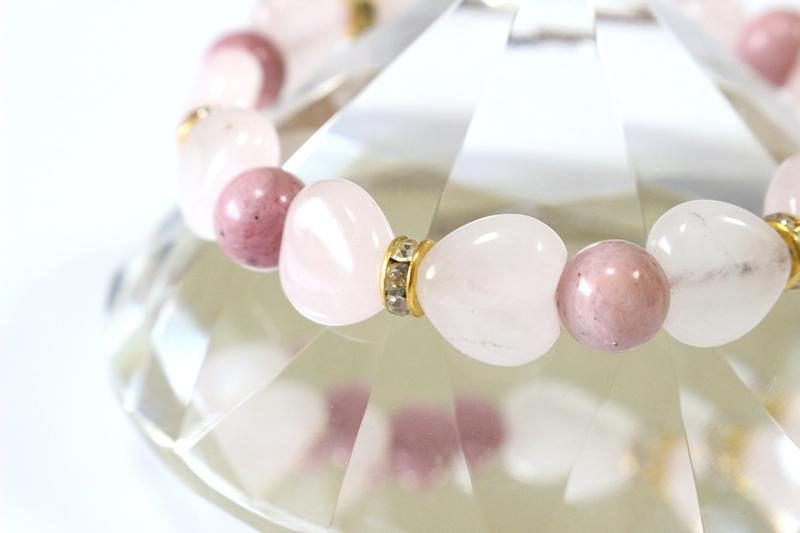 Pinky Rose ピンキーローズ【パワーストーンブレスレット】 - 画像2