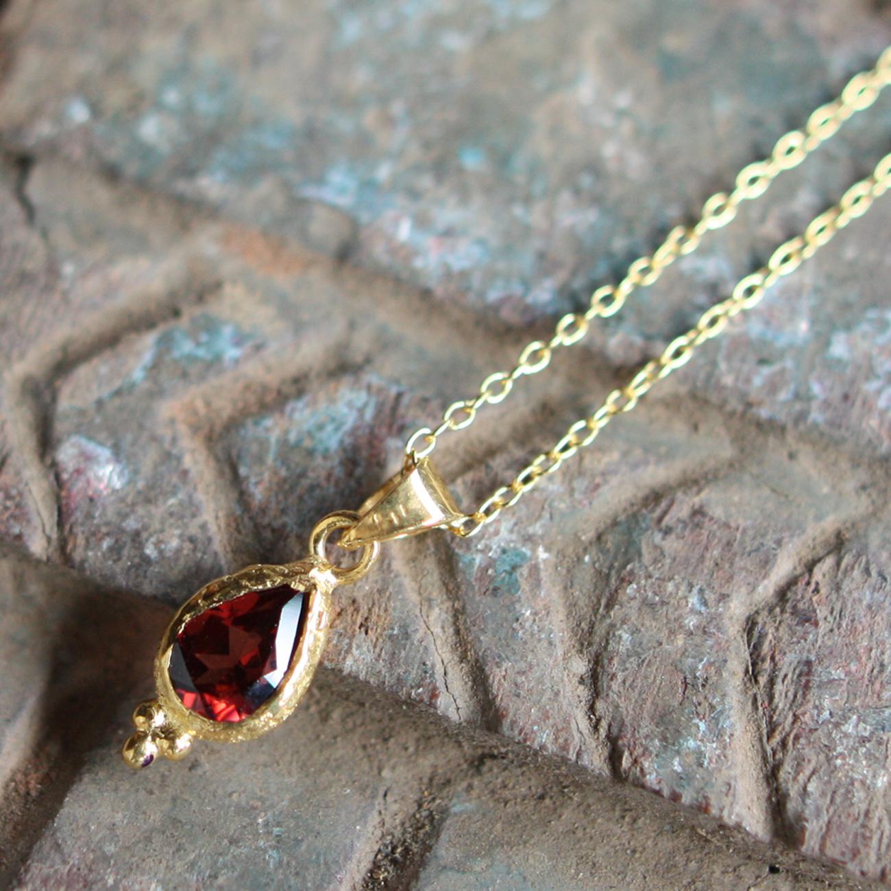 Jaipur gem ネックレス -garnet-