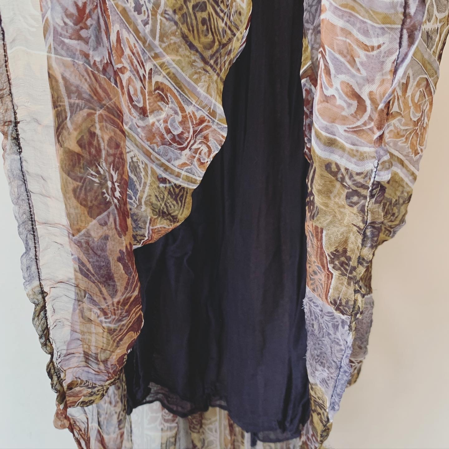 vintage sheer design rayon skirt