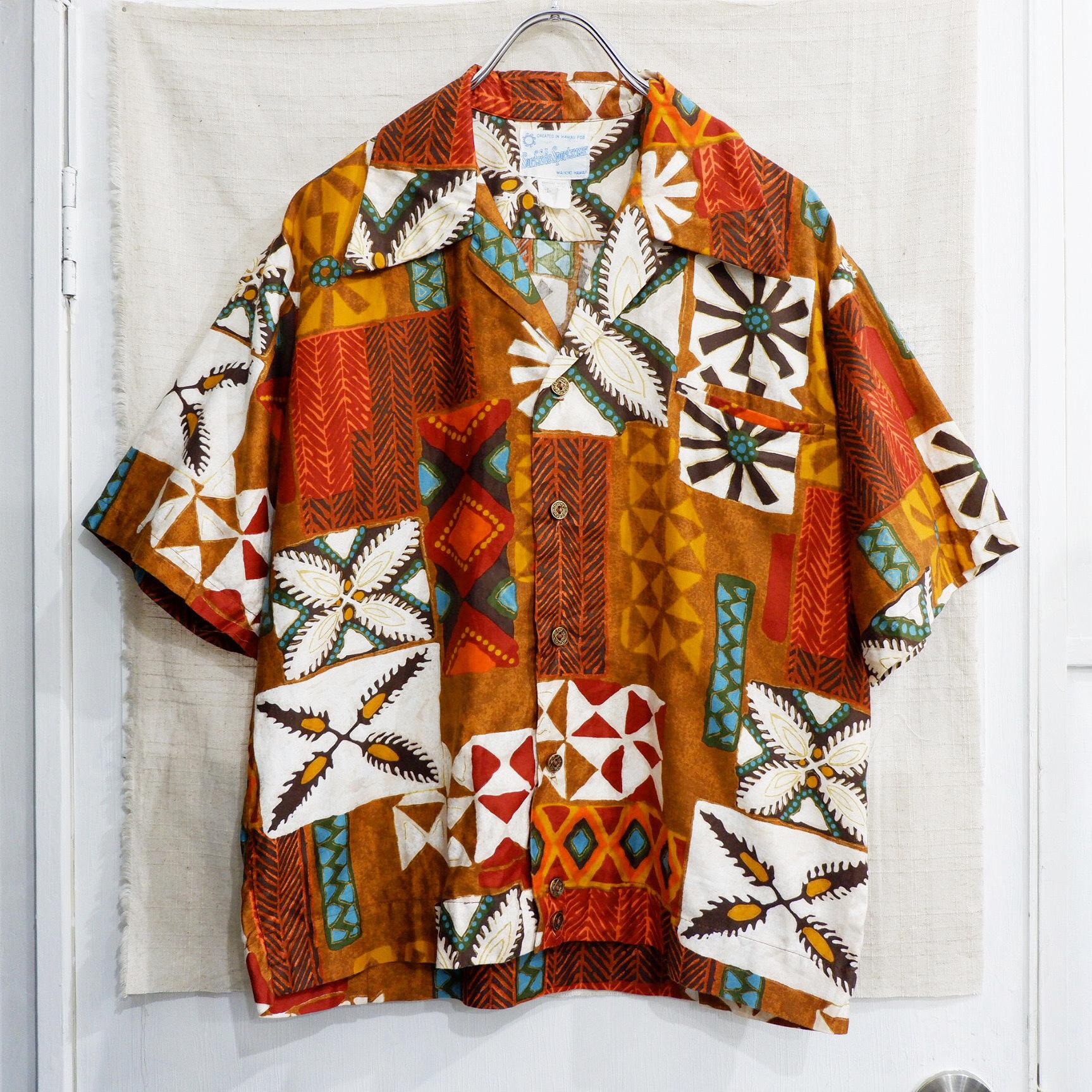 アメリカ古着 1970s Made in Hawaii アロハシャツ