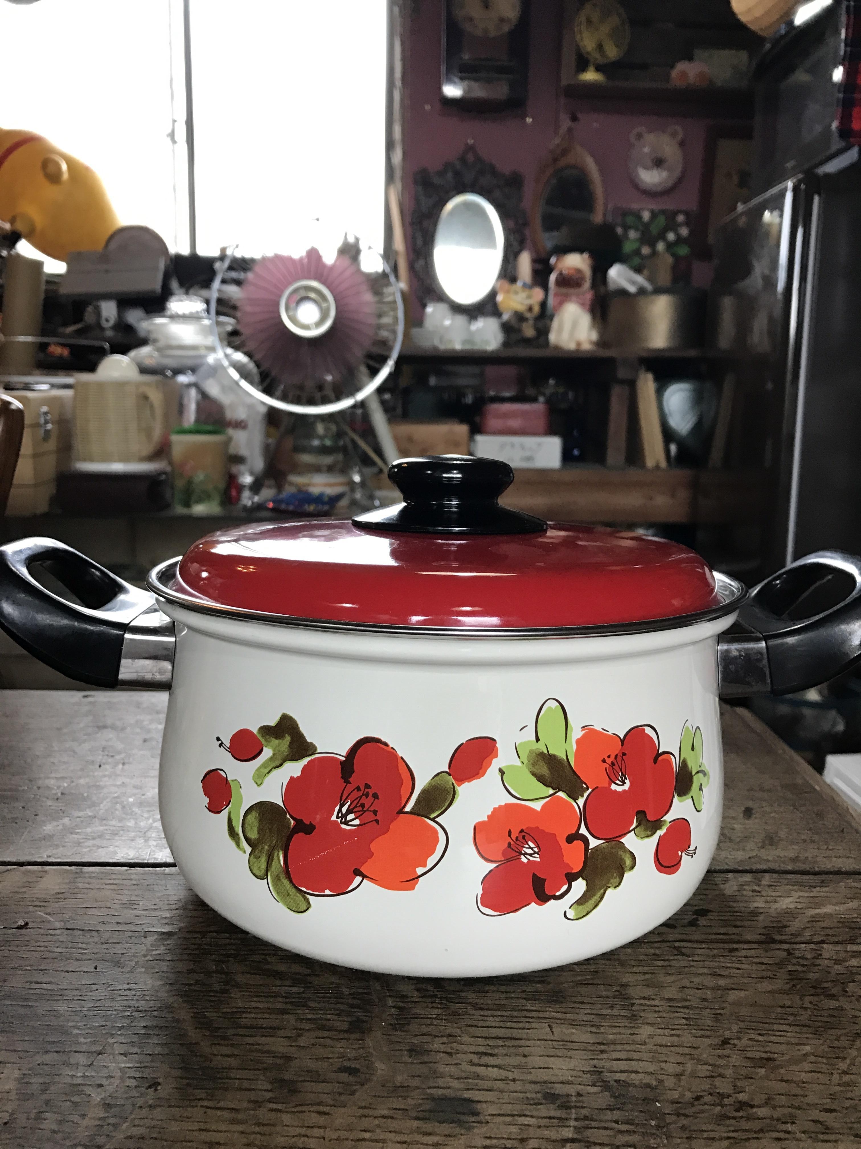レトロ ホウロウ鍋
