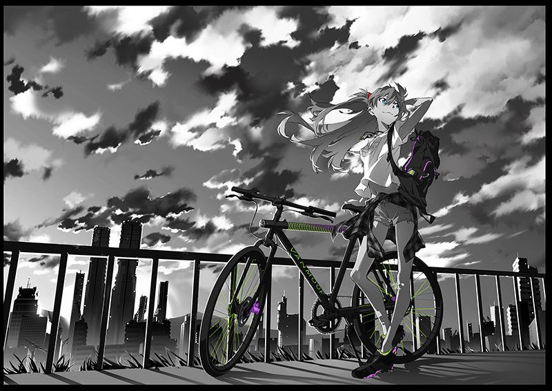 The bicycle ASUKA T-Shirt (ブラック) / RADIO EVA