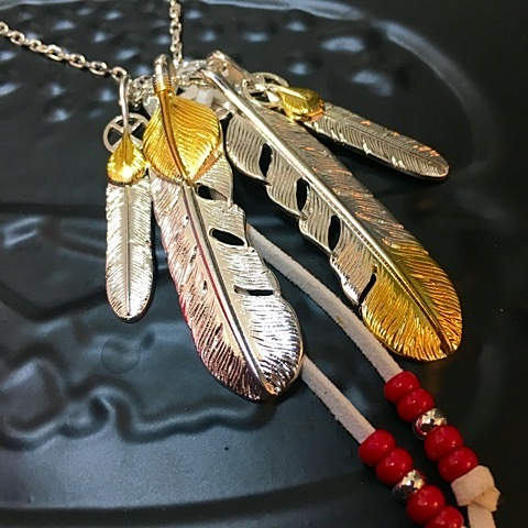 Bgnee×Taste custom feather necklace