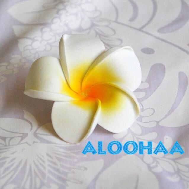プルメリア 10pc パック Msize 6-7cm 造花 ウレタン フラダンス タヒチアン 衣装 アクセサリー 材料