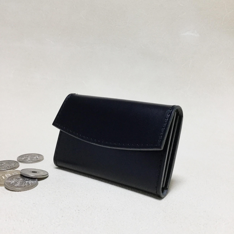 シンプルな革のコインケース#ブラック
