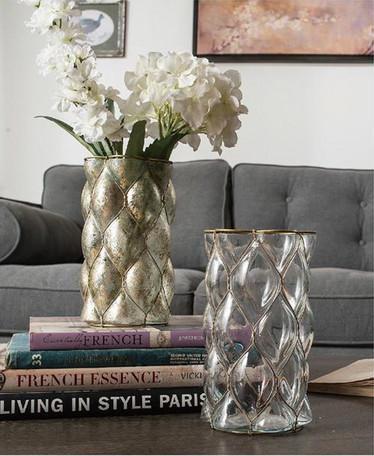 予約【Creative Co-Op Home】 Glass & Wire Candle