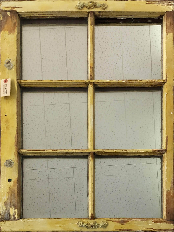 品番1256 窓のミラー 壁掛 アート ディスプレイ アンティーク ヴィンテージ