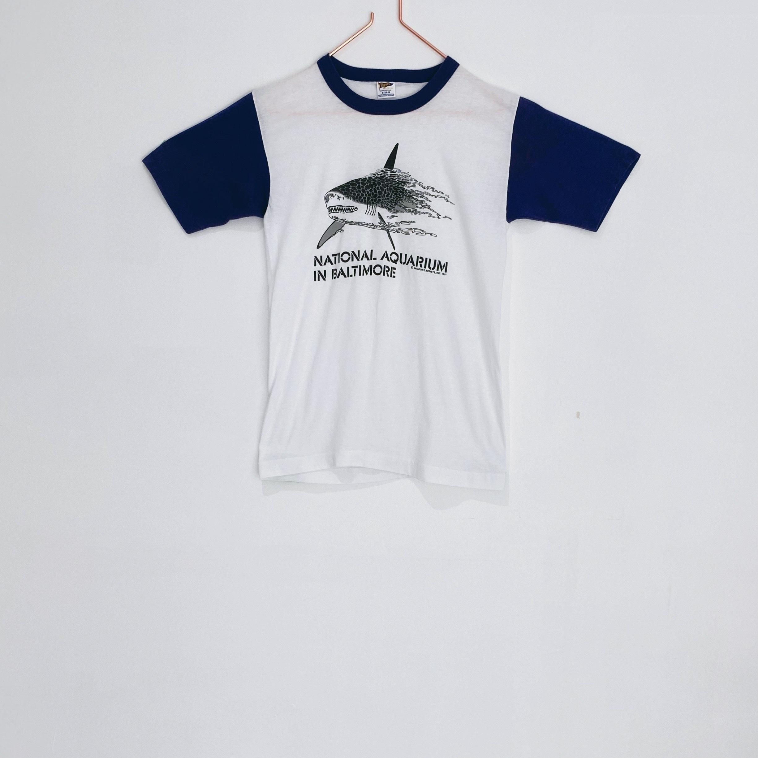 ◼︎'81 SHARK AQUARIUM baseball T-shirts from U.S.A.◼︎
