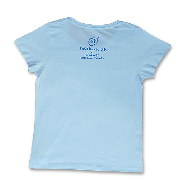 sasakure.UK 「アタマ★ビックリ」Tシャツ (レディース/シャーベットブルー) - 画像2