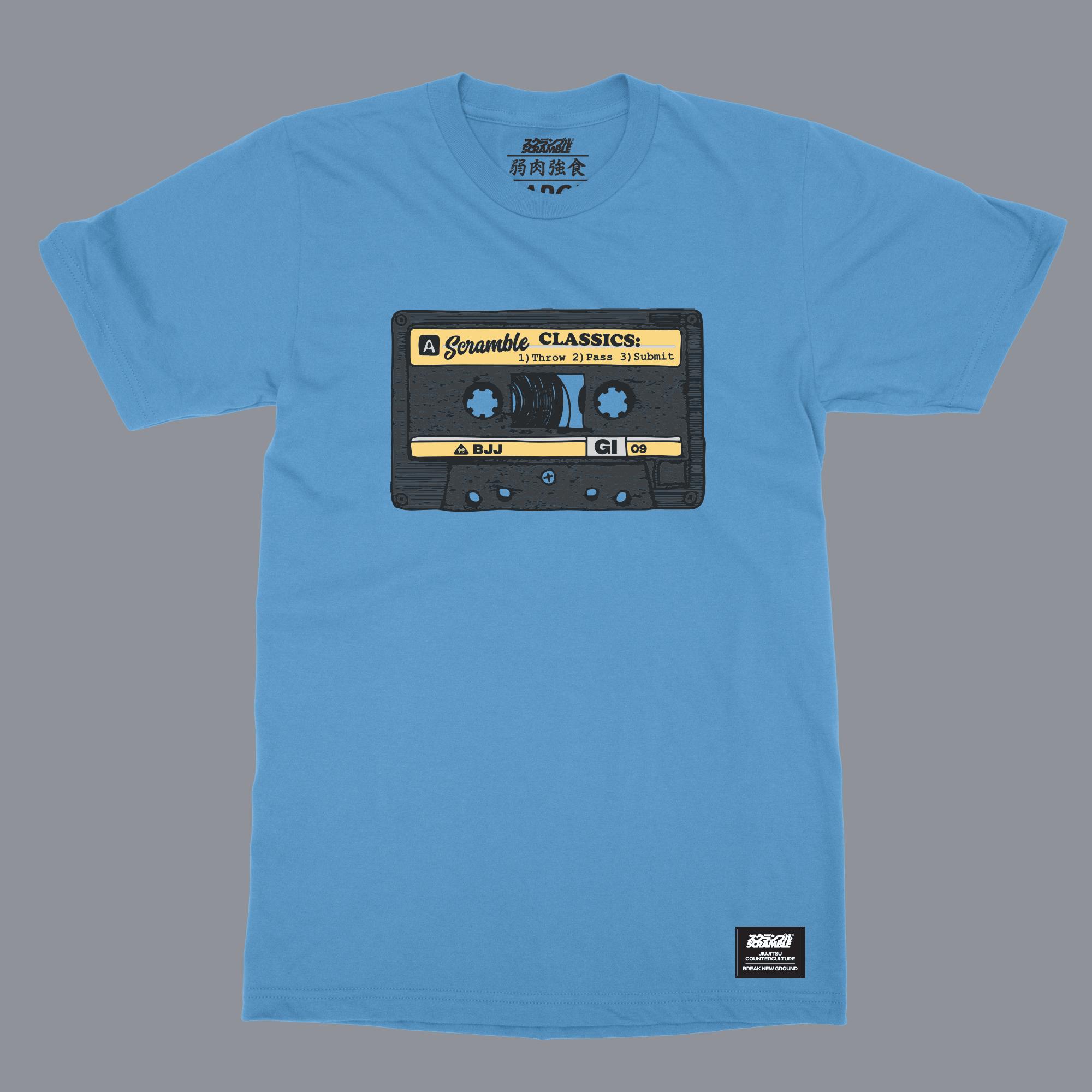 SCRAMBLE OLD SCHOOL T-SHIRT – ブルー|格闘技 柔術Tシャツ