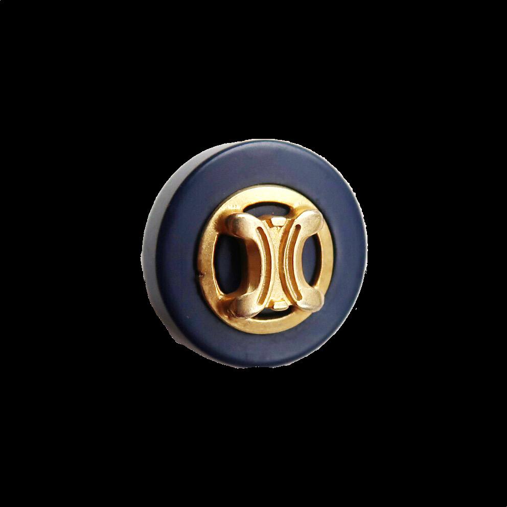 【VINTAGE  CELINE BUTTON】ゴールドフレーム ミニ ロゴボタン  1.7cm