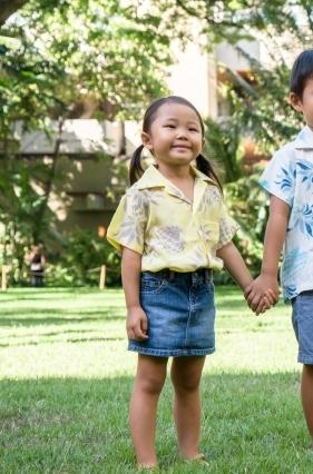 【LeaLea×Kona Bay Hawaii】キッズアロハシャツ(イエロー)