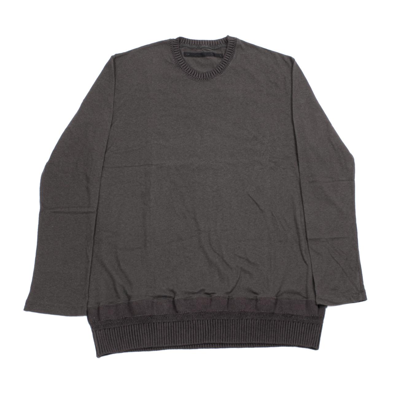 717CUM9-SLATE / ニットヘムロングスリーブTシャツ