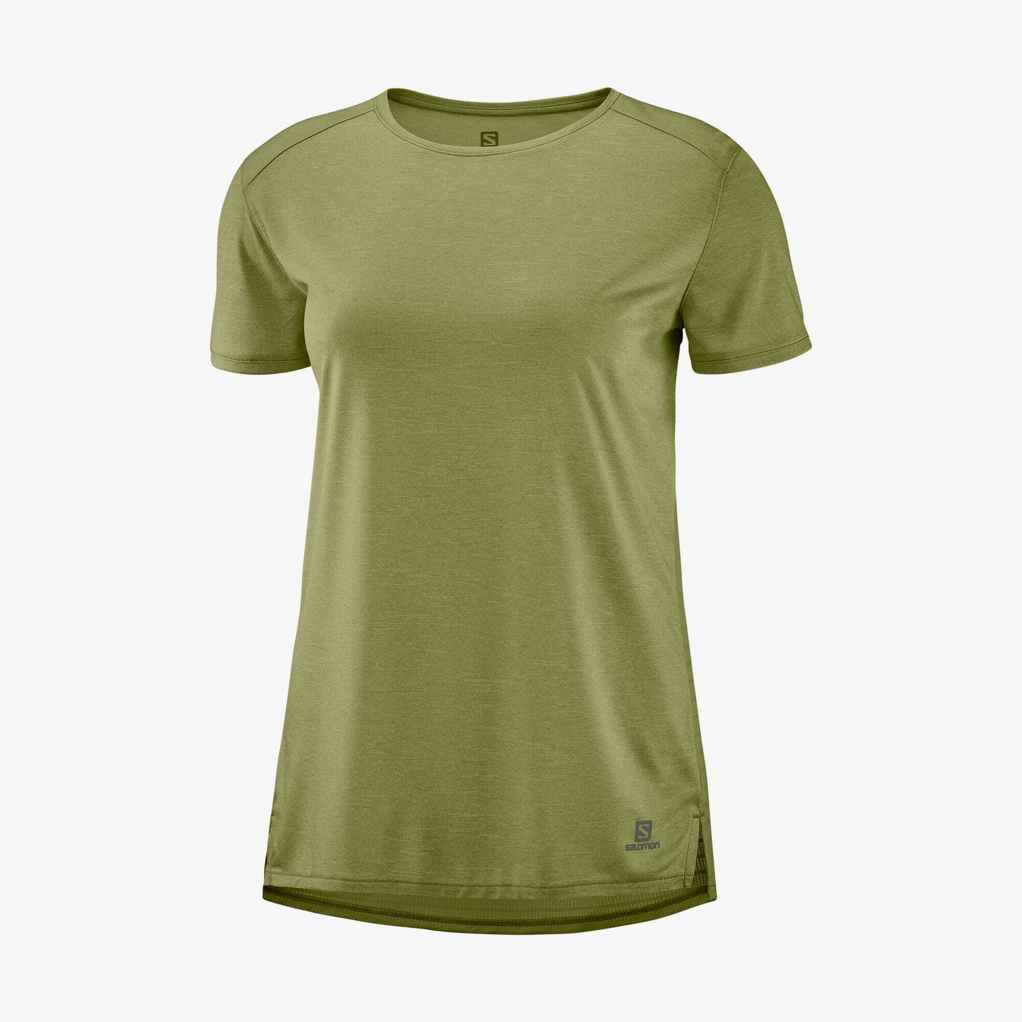 Salomon サロモン OUTLINE SUMMER TEE W MARTINI OLIVE ウィメンズ/レディース アウトライン サマーTシャツ マルティーニオリーブ LC1502100