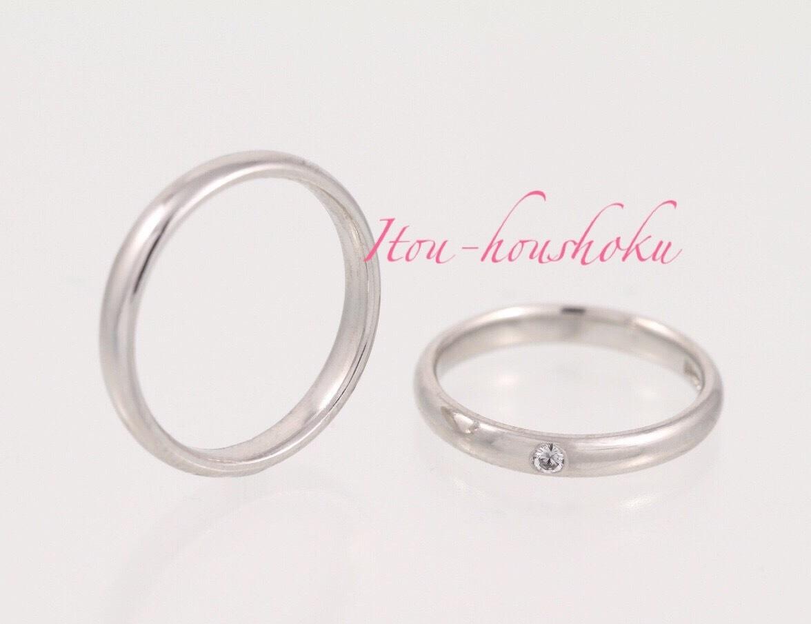 鍛造製法で作るPT900結婚指輪ストレート