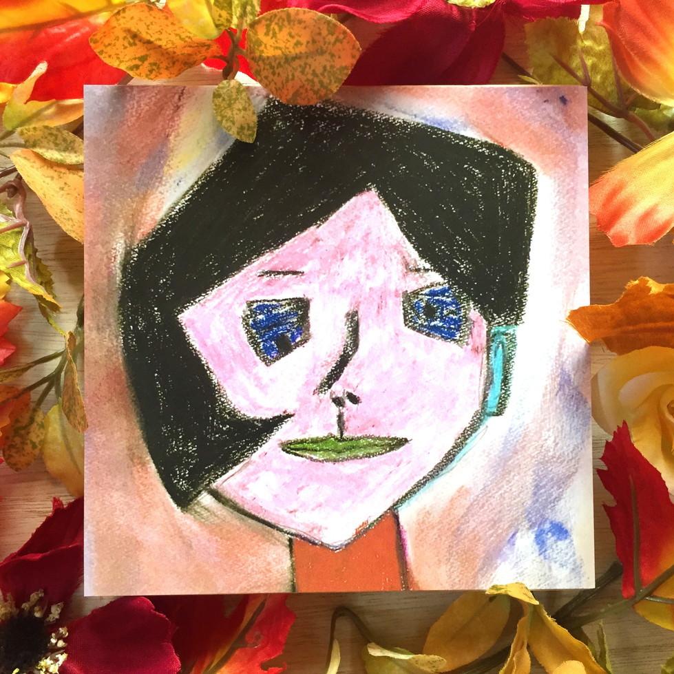 絵画 インテリア アートパネル 雑貨 壁掛け 置物 おしゃれ 現代アート 抽象画 ロココロ 画家 : Mitsuo Ito 作品 : a girl