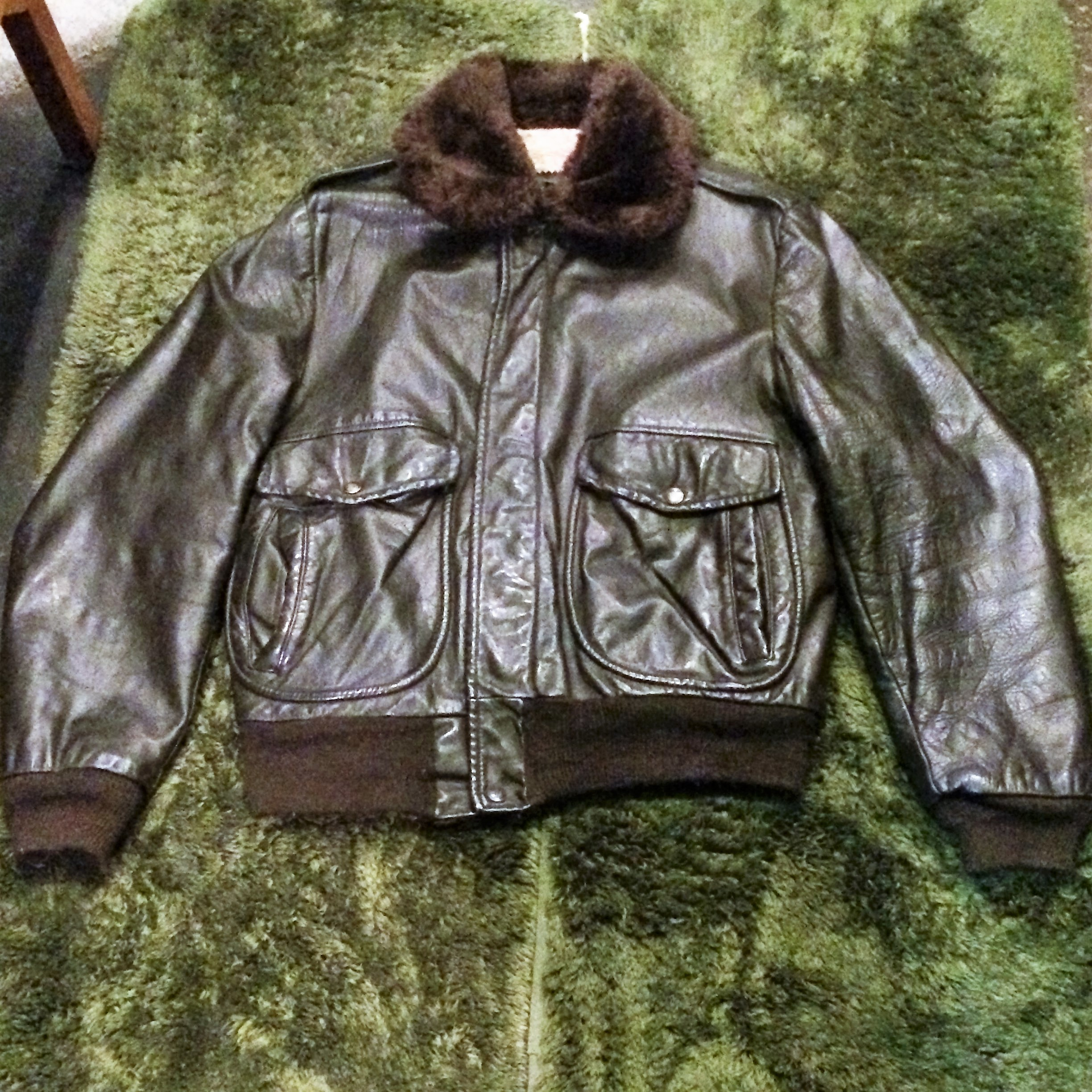 【webショップ限定SALE! ¥9800→¥7840】60's~70's vintage Sears G-1type Leather Jacket