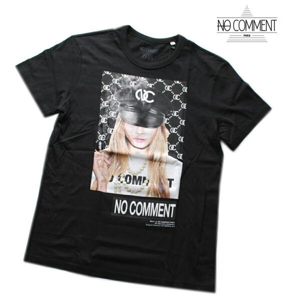 NO COMMENT PARIS ノーコメント パリ Tシャツ 半袖 クルーネック Tシャツ メンズ 正規販売店 LTN216 ブラック