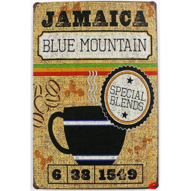 【ブリキ看板】コーヒー・ジャマイカ ブルーマウンテン 小型版[C62122]