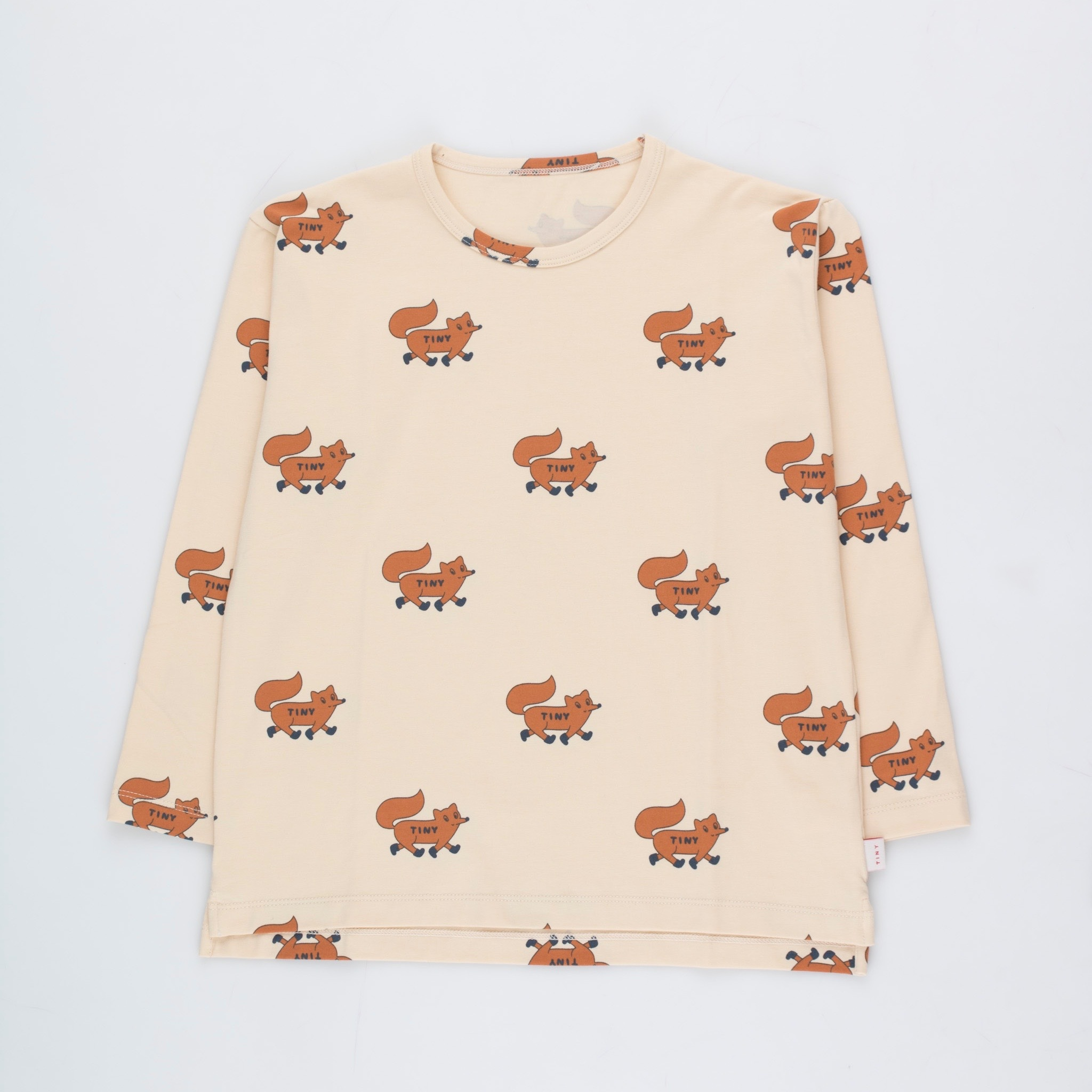 《TINYCOTTONS 2020AW》FOXES TEE / cream × brown