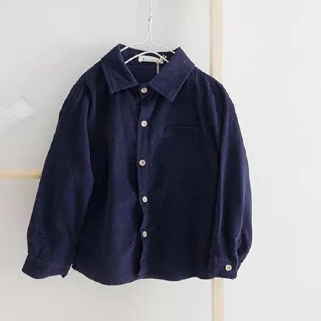 ベーシックコーデュロイシャツ ネイビー【713】