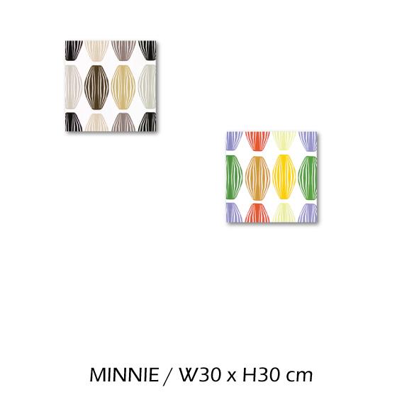 北欧生地 ファブリックパネル 横30 cm x 縦30 cm Kinnamark MINNIE 受注販売商品 (100426)