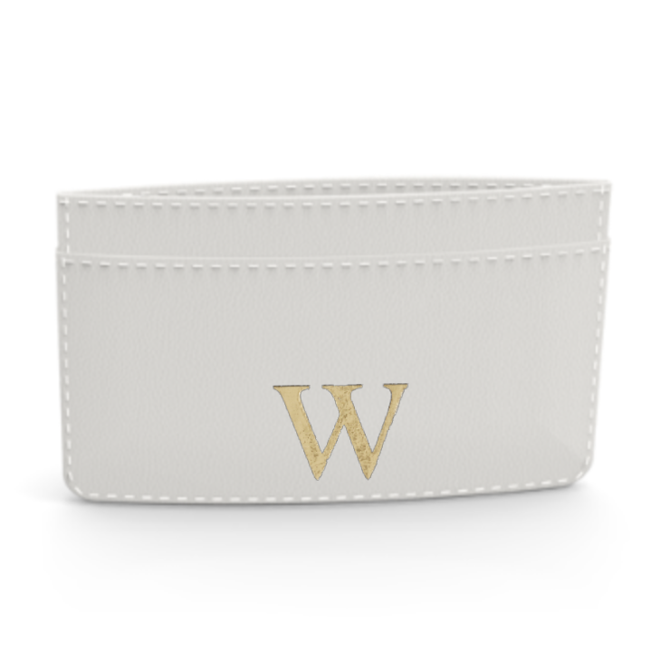 Premium Smooth Leather Card Case (Cotton White)