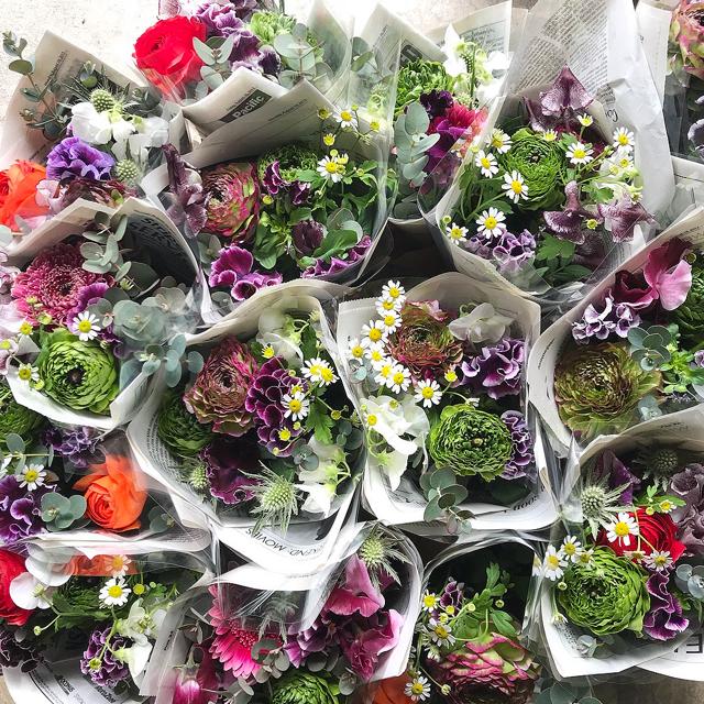 【自宅で楽しむ】当店おまかせ季節のお花の詰め合わせ(ご自宅用・ファンフラワー)