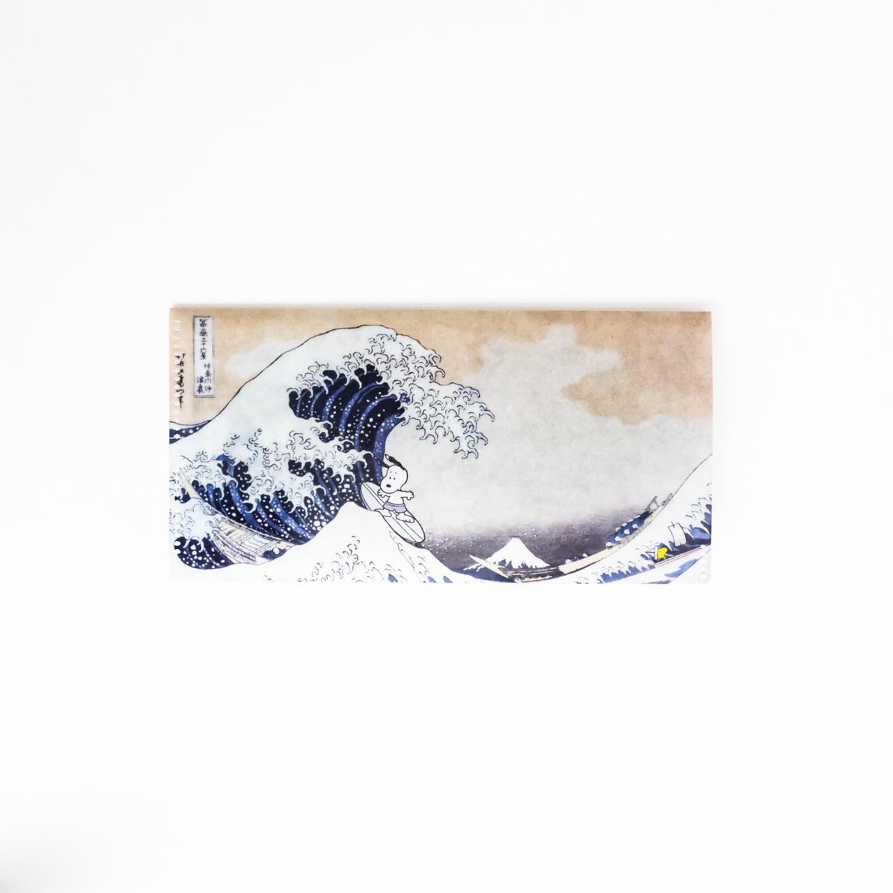 スヌーピー チケットファイル 神奈川沖浪裏
