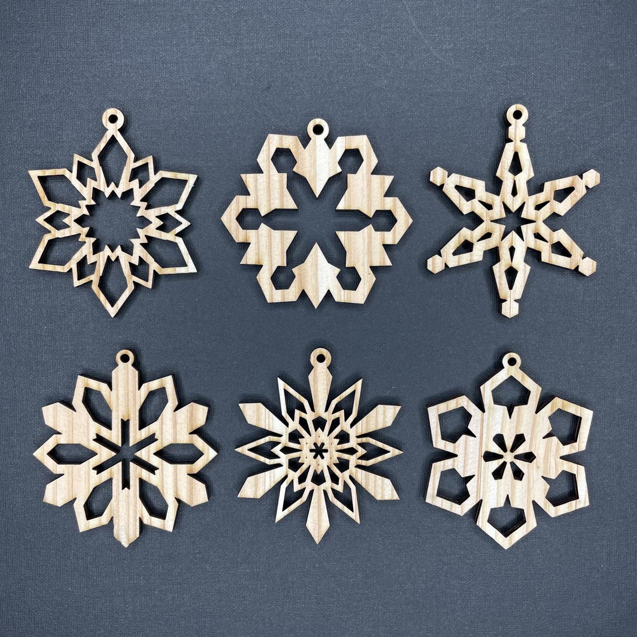 オーナメント 雪の結晶 小サイズ 6個セットB