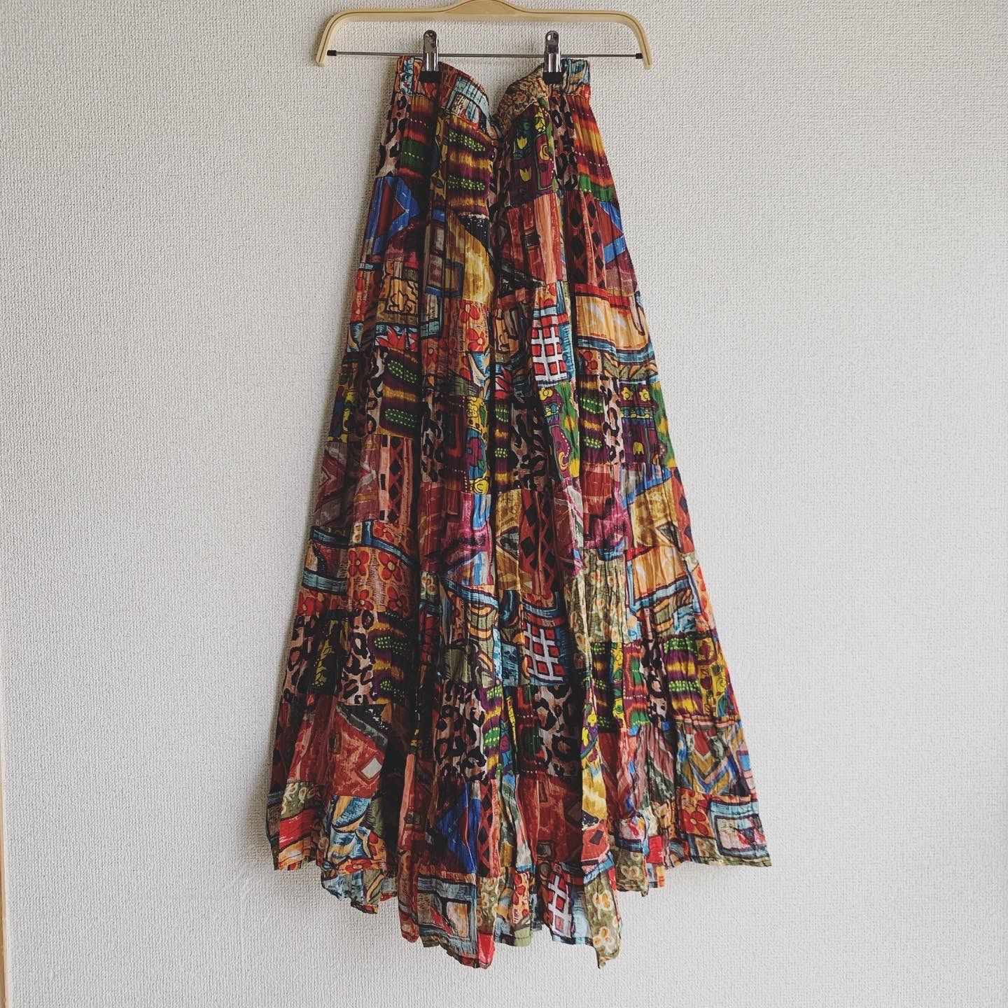 vintag colorful Indian cotton skirt