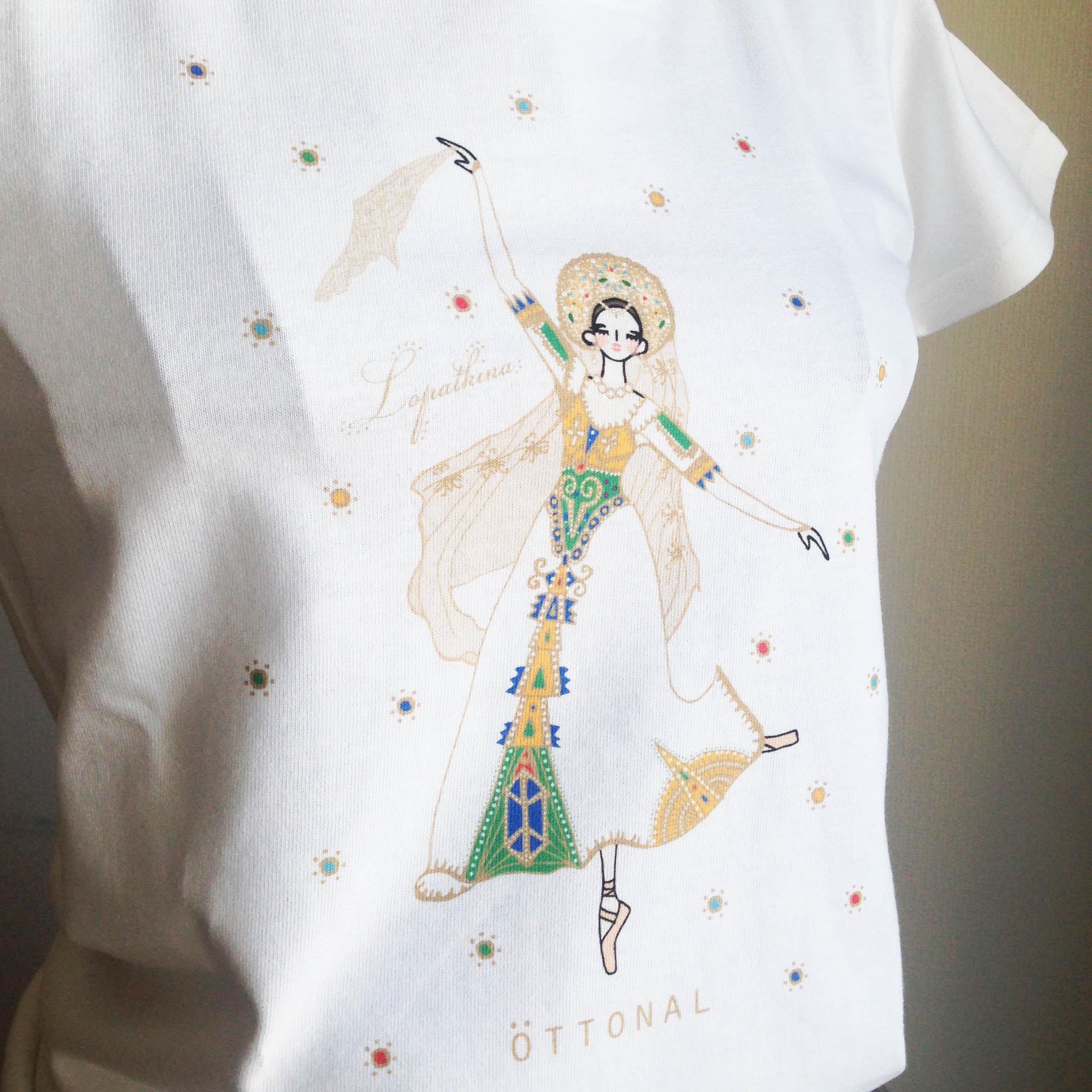 (即日発送・在庫残りわずか)★ロパートキナコラボ★ ロシアの踊りTシャツ(レディース) - 画像1