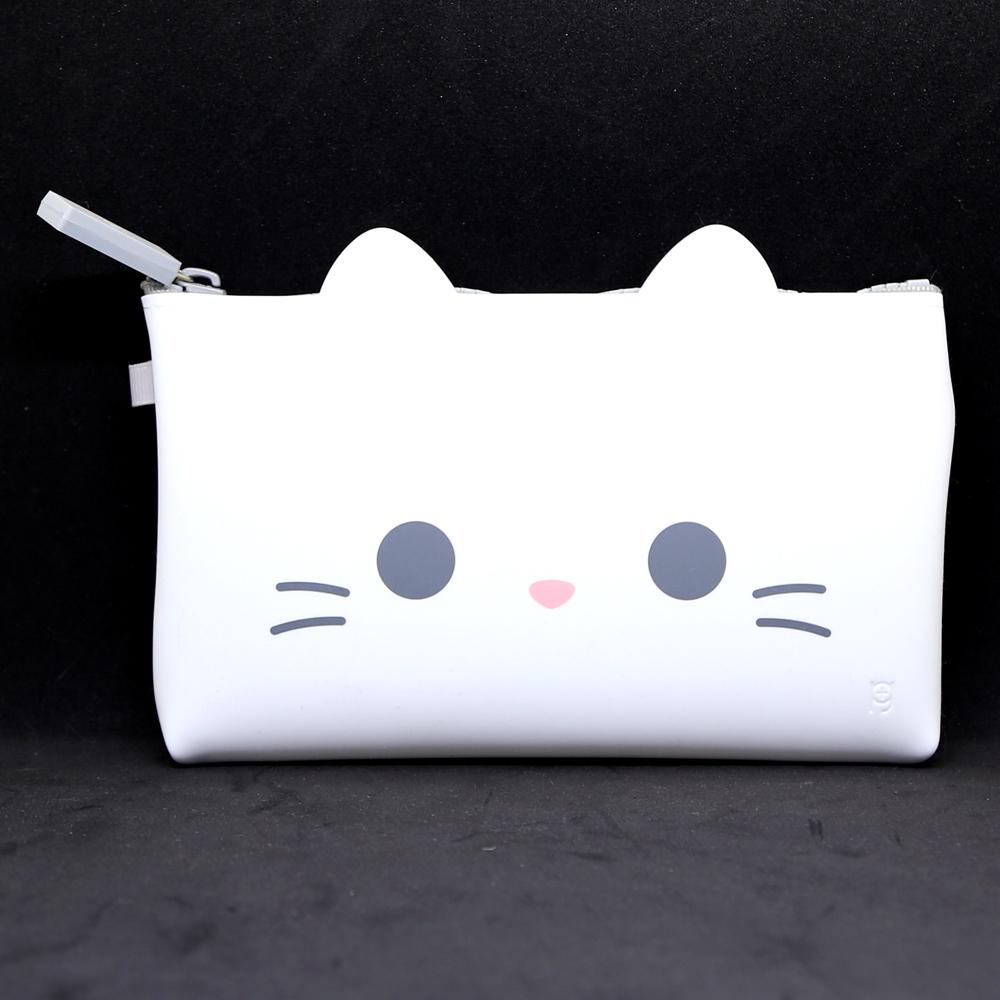 猫ポーチ(シリコンポーチ)白猫