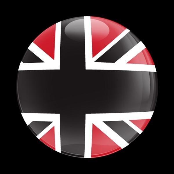 ゴーバッジ(ドーム)(CD0160 - FLAG BLACKJACK RED) - 画像1