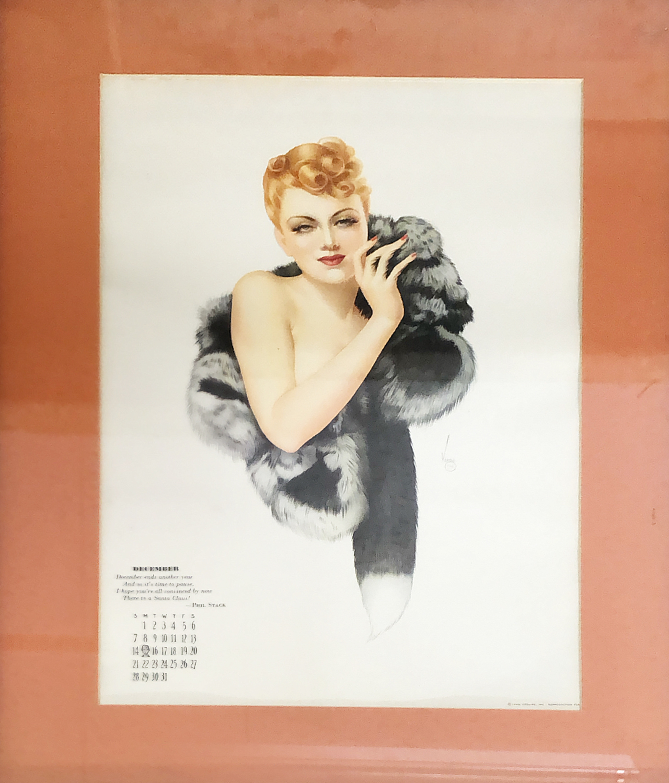 品番6220-4 1940年 アルベルト・バルガス 『バルガスガール/the vargas girl』 バーガ・ガール 額装 アート ヴィンテージ