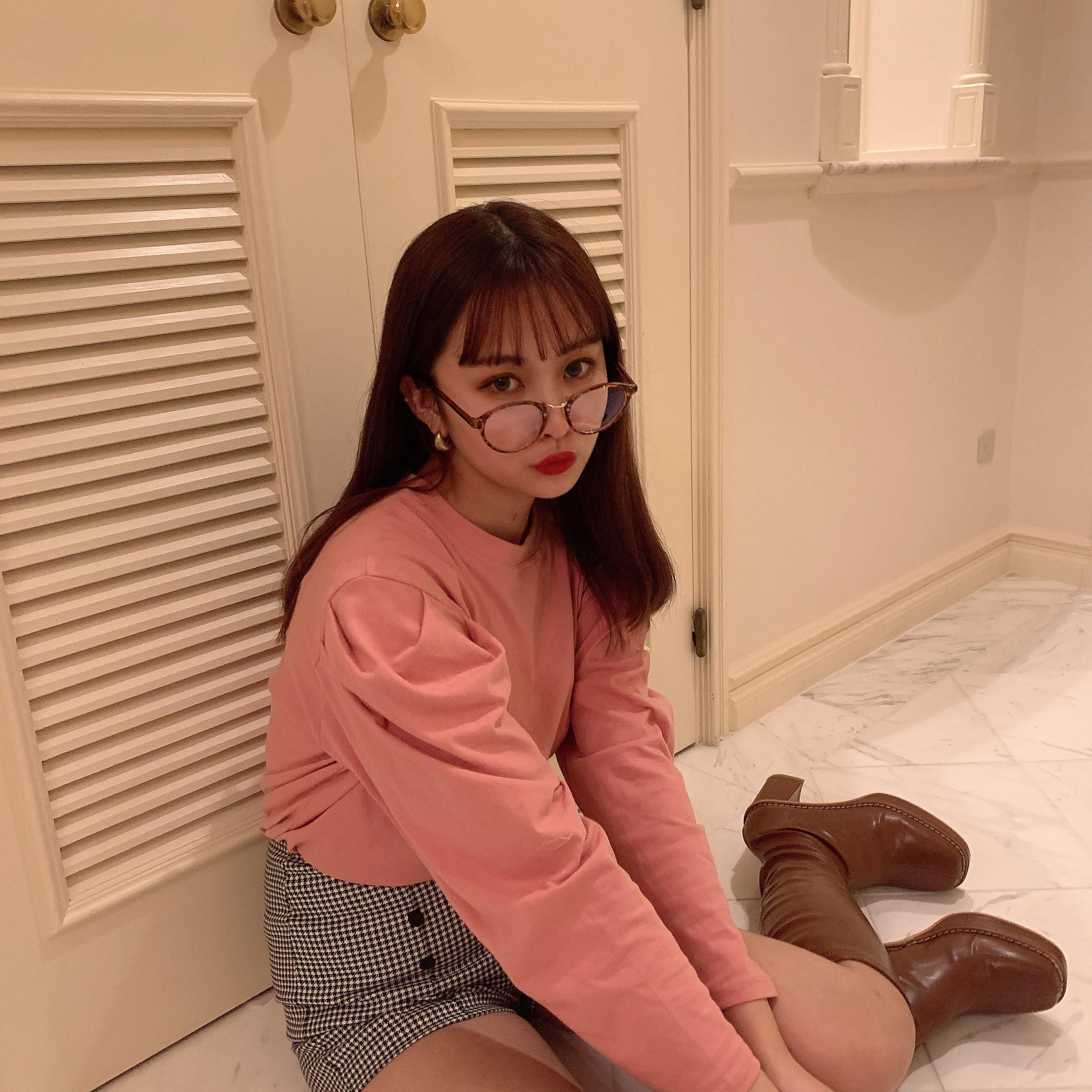 pink puff Tshirt