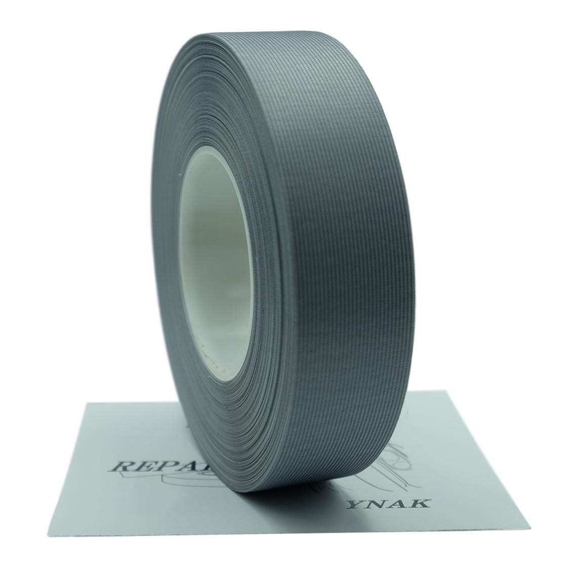 YNAK テント ザック タープ シート レインウェアー 補修 メンテナンス 用 強力 トリコット 表面布状 アイロン式 3レイヤー適合 説明書付き シームテープ (グレー,幅25mm×20m)