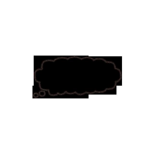 017-こびとと組み合わせて使える吹き出し(空想)